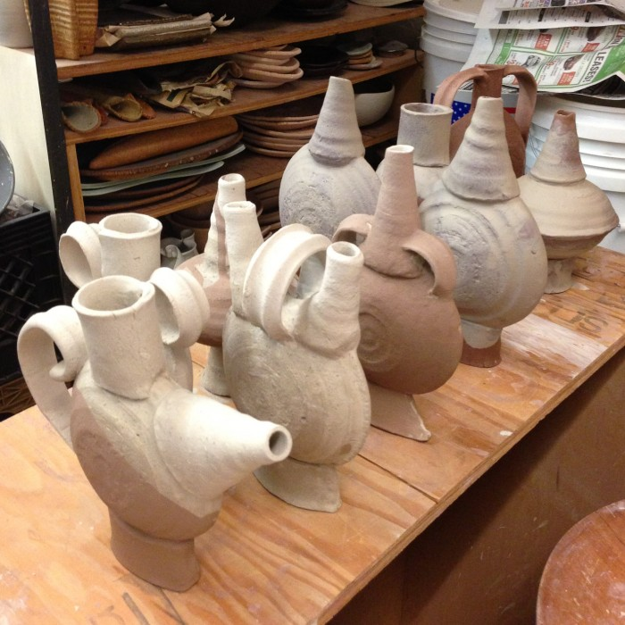 Vases Drying